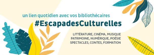 #EscapadesCulturelles, le rendez-vous quotidien des bibliothécaires