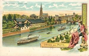 CP bateaux Moselle - Coll. BM Metz