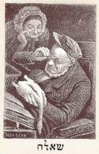 Illustration d'Alphonse Lévy pour   La vie juive de Léon Cahun, Paris, 1886. Coll BM Metz