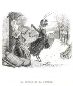 Les fables de La Fontaine par Grandville, La cigale et la fourmi – Coll. BM Metz