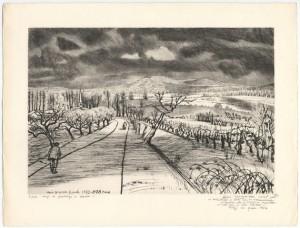 Orage de printemps en Moselle, d'André Jacquemin - Coll. BM Metz
