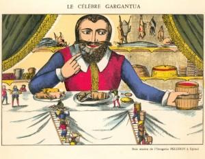 Détail d'un menu du Grand Hôtel Thiers de Nancy, d'après une image d'Epinal (BMMetz, collection Yvonne Mutelet)
