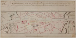 Plan d'une partie de la ville de Metz (1758) - Coll. BM Metz