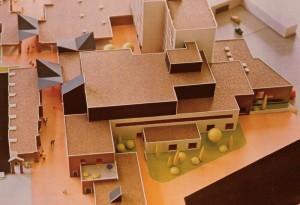 Maquette de la Médiathèque du Pontiffroy - Coll. BM Metz