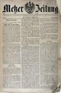 Metzer Zeitung - Coll. BM Metz