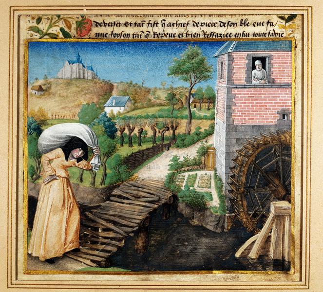 Le Mortifiement de Vaine Plaisance de René d'Anjou (1409-1480), miniature attribuée à Jean Colombe - coll.BM Metz
