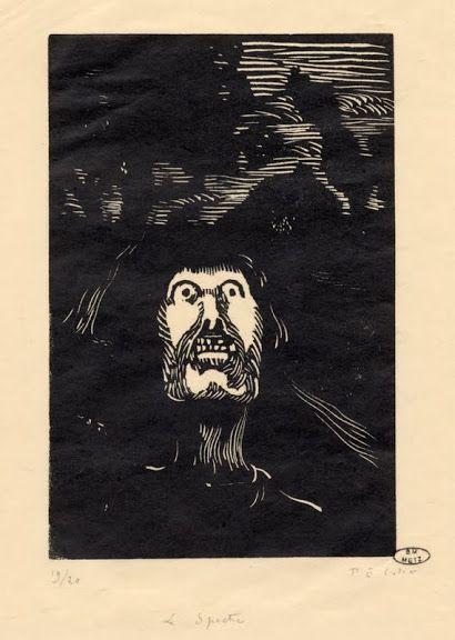 Le spectre / Paul-Emile Colin, gravure sur bois sur papier japon, 1893. Coll. BM METZ