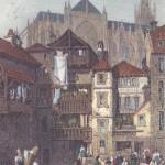 View in Metz, gravure de Thomas Barber, 1832, d'après un dessin de Samuel Prout, 1819.