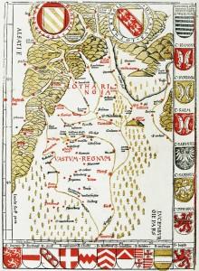 Carte de Lorraine, par Waldseemuller (1520)
