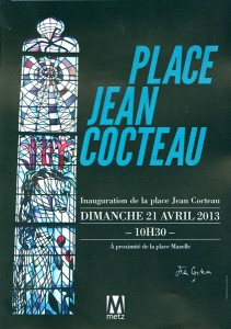 Flyer inauguration Place Jean Cocteau recto