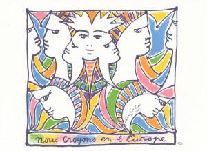 Jean Cocteau Nous croyons en l Europe - - Coll. BM Metz
