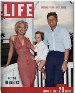 """Fausse une de Life, """"Rencontrez la famille Kennedy"""".  D'autres images sont aussi visibles sur le blog contagiousness.fr/?p=1450"""