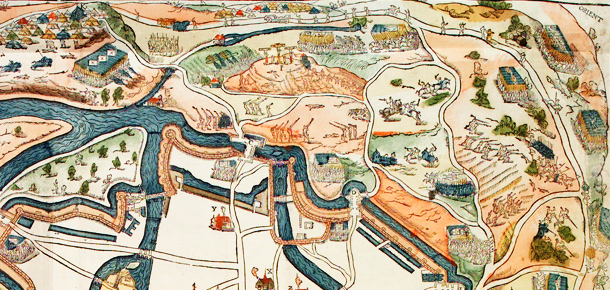 Détail plan de Metz - 1552 - Coll BM Metz