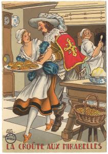 La croûte aux mirabelles [carte postale] par Jean Paris. (BM Metz, collection Yvonne Mutelet)