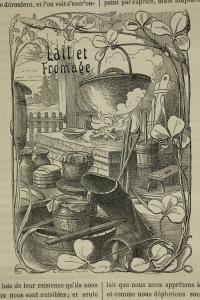 Lait et fromage in Magasin d'éducation et de récréation. Paris, Hetzel, 1884, 2e semestre (BM Metz, fonds ancien jeunesse)