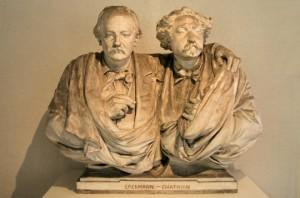 Erckmann-Chatrian, plâtre de A. Bartholdi. Musée Bartholdi (Colmar)