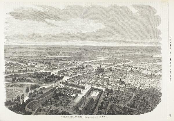 Vue générale de la Ville de Metz - L'ILLUSTRATION Journal Universel - coll. BMM
