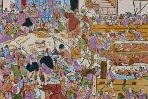 Le bœuf à la broche lors du couronnement de l'empereur Matthias en juin 1612 - Musée Historique de Francfort
