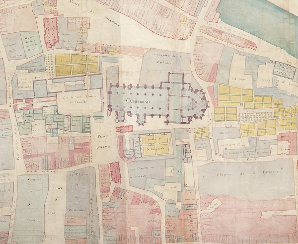 Plan de la Ville de Metz - coll. BMM