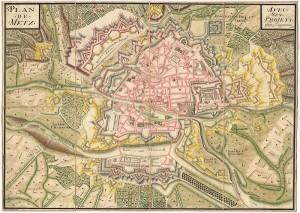 Plan de Metz avec ses projets - coll.BM Metz