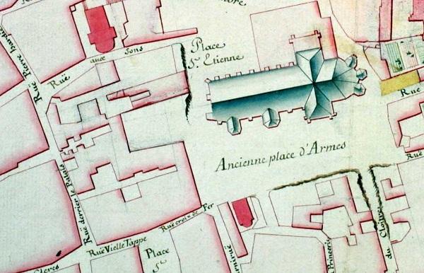 Plan rapproché - Ancienne Place d'Armes - coll.BM Metz