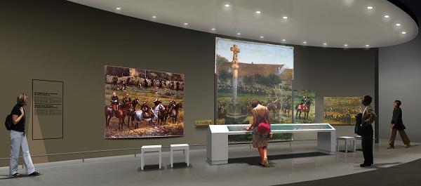 Perspective de la salle consacrée au panorama de Rezonville © LouKat-Arnaud Madelénat-Pierre Verger