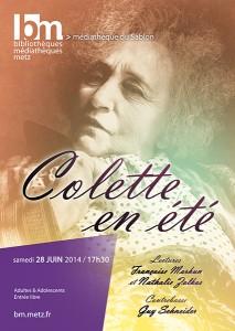 Affiche Colette en été - BM. Metz