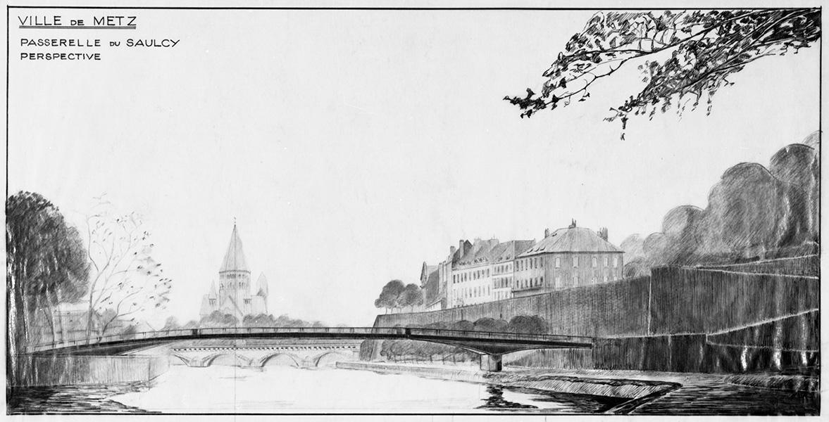 Passerelle du Saulcy - Perspective - Ville de Metz