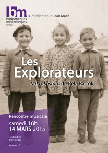 Les Explorateurs - Affiche BM. Metz