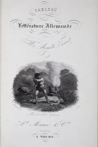 Tableau de la littérature allemande. Fonds patrimonial des BMM. LSL 434