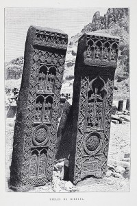 Stèles de Djoulfa (ville arménienne qui abritait un cimetière ancien, détruit par les Azéris)