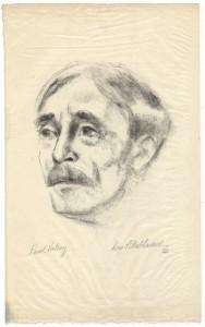 Portrait de Paul Valéry par Lou Albert-Lasard