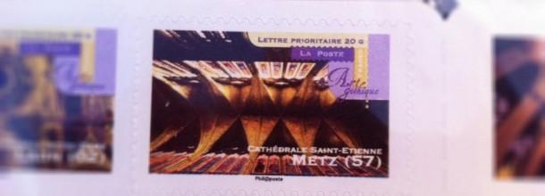Un timbre de la cathédrale de Metz en vente!